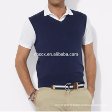 15PKCAS62 knitted men 100% cashmere sweater vest