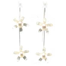 Hochwertiger Art- und Weisedame-Schmucksache-925 silberner Perlen-Ohrring (E6571)