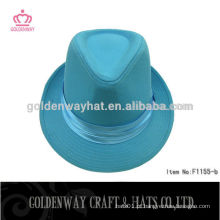 Luz azul rosa / chapéu fedora
