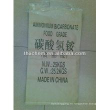 Aditivo alimentario bicarbonato de amonio como agentes de carga