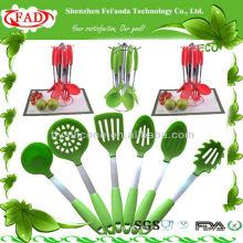 2014 NUEVO 6 pedazos de utensilios de cocina de silicona conjunto de utensilios