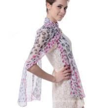 Fashion Design Woman Good Quality Scarf Silk Georgette Cappa