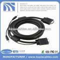 Цена по прейскуранту Позолоченный кабель 15PIN 3 + 6 VGA для VGA с 3,5 мм аудио для ПК