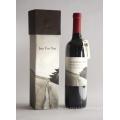 Papel de lujo de embalaje de vinos caja con el logotipo