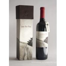 Papel de embalaje de regalo de lujo botella de vino cuadro