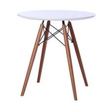Mesa de comedor redonda de MDF con base de madera