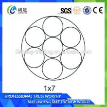 1 * 7 Cuerdas de alambre de acero al por mayor