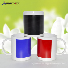 11oz Sublimation White Mug mit Farbe ändern Patch Temperatur empfindliche Print Coating