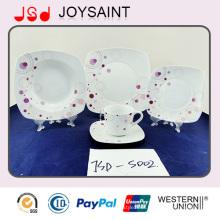 18 PCS China Supplier Porcelain Food Grade Use Tableware Ceramic Dinner Sets Plate