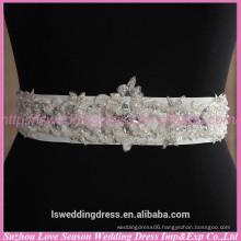 LB0002 Quality fabric best handmade High end designer custom handmade beaded wedding dress belts