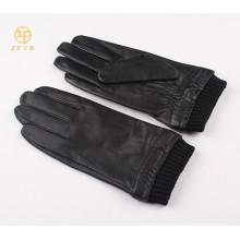 2014 los mejores hombres de la venta llanan los guantes elegantes del tacto del dedo del cuero del estilo