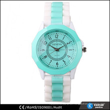 Mulheres de relógio de faixa de silicone de quartzo extravagantes