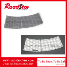 Collapsible honeycomb pattern reflective cone sleeve