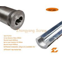 Bimetallic Screw Barrel Twin Parallel Screw Cylinder