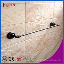 Fyeer Black Series Bathroom Fittings Brass Single Towel Bar