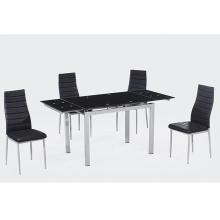 elegantes sillas de comedor negras silla de comedor de cuero negro