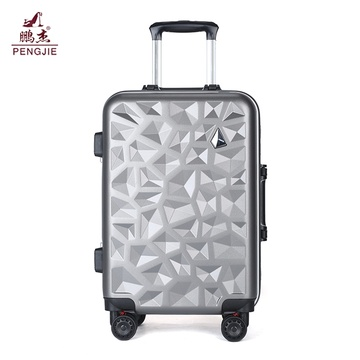 Diamond shape customized design ABS luggage