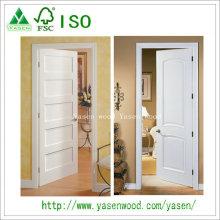 Popular Panel Design Painted White Wood Door