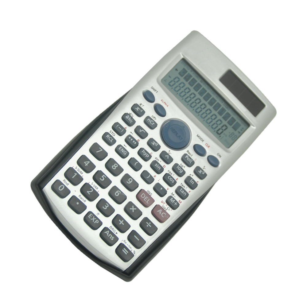 2-line Display Function Calculator with Cover