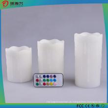 Luz branca da coluna da luz da vela do diodo emissor de luz de 3PCS Set nenhum gotejamento
