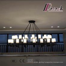 Modern Glass Black Matt Pendant Lamp for Hotel Project