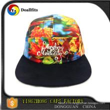 2015 новый дизайн собственный полиэстер / хлопок 5 панелей кемпер шляпа дизайн
