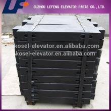 Elevator components Casting iron counterweight