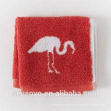 Jacquard Flamingo rot Gesicht Handtuch Waschlappen Soft FT-037