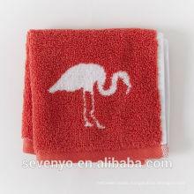jacquard flamingo red Face Towel wash cloth Soft FT -037