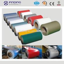 DX51D/CGCC/SGCC/SD250 cor revestido PPGI/PPGL prepainted galvalume galvanizado aço inoxidável frio laminados coloridos bobina de aço