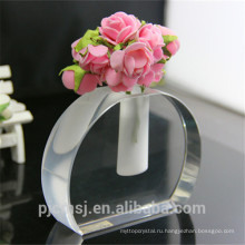 эллипс форма кристалла цветок ваза для дома или свадебные украшения