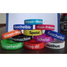Customized Colorful Bracelet Imprint OEM Silicone Wrist Band