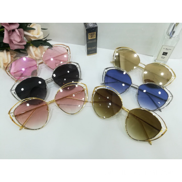 New Oval Full Frame Sunglasses Para Mulheres