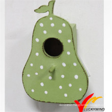 Shabby Chic Green Pear Wooden Bird House