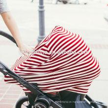 cobertura amamentando dos cuidados da tampa do portador de carro do bebê do algodão que cobre a tampa do carrinho de compras