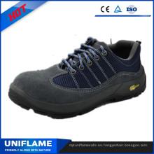 Zapatos de seguridad protésicos de piel de ante azul Ufa103