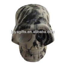 Crânio esculpido handmade da pedra preciosa