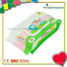 Serviette de papier humide pour bébé