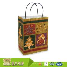 L'impression de logo fait sur commande coloré différent de types met en sac les sacs en papier de scintillement personnalisés pour l'emballage de cadeau de Noël joyeux