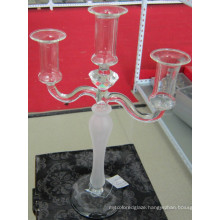 Frosting Glass Candle Holder with Three Posters
