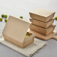 Disposable and biodegradable paper bento lunch boxes