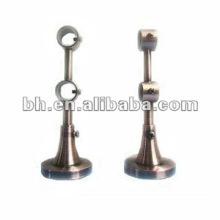 extended metal double adjustable curtain rod bracket