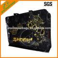 Schwarz laminierte Vlies-Einkaufstüte mit Reißverschluss