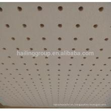 Panel de yeso perforado acústico