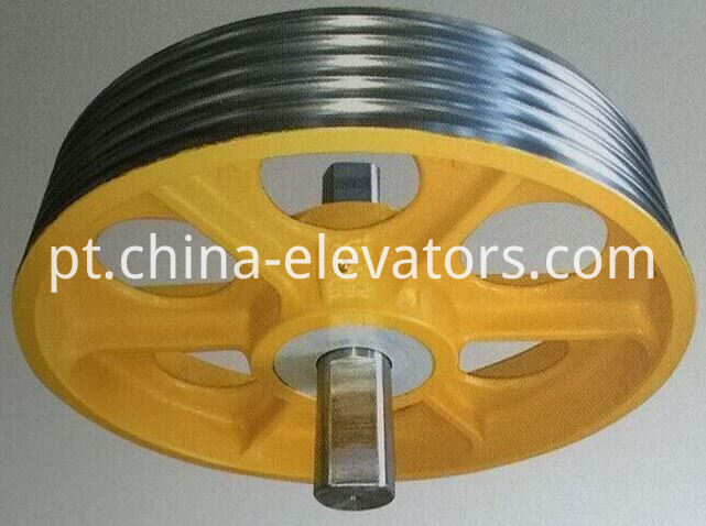 Elevator Car Bottom Pulley