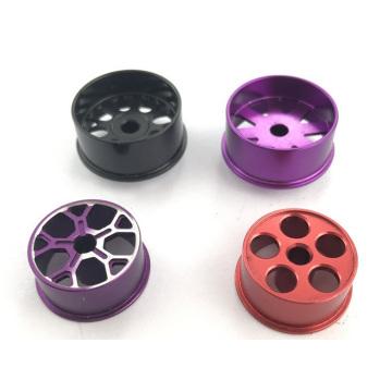 Anodizan de piezas de torneado CNC de aluminio modificado para requisitos particulares con colorido
