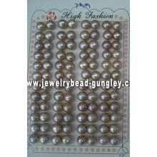 Half drilled pearl AAA grade 7mm, purple