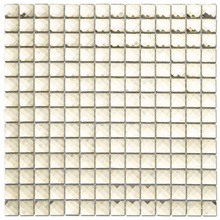13 Faces Diamond Mirror Square Gold Color Glass Mosaic Tile for Wall