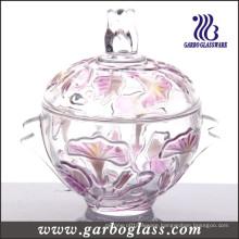 Morning Glory Glass Sugar Pot (GB1805QN/P)