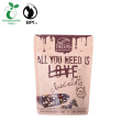 Bolsa de chocolate biodegradable de 500 g con cremallera